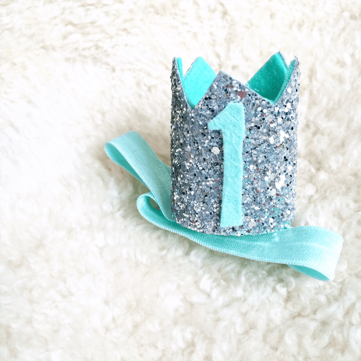Mini Sparkle Crown - Blue - Project Nursery