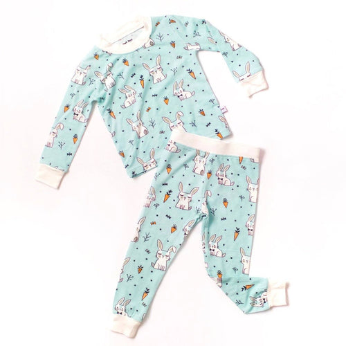 Bunnies Two-Piece Bamboo Toddler Pajama Set - Project Nursery