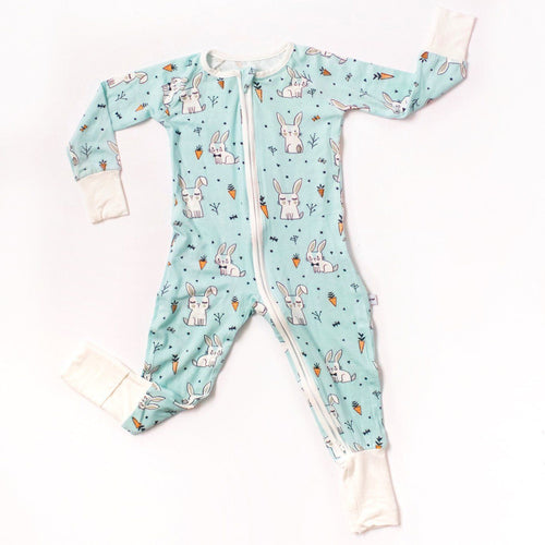 Bunnies Bamboo Zip Romper + Sleeper - Project Nursery