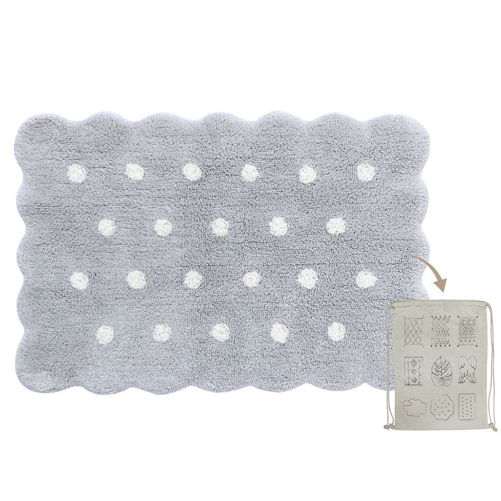 Mini Biscuit Washable Rug - Pearl Grey - Project Nursery