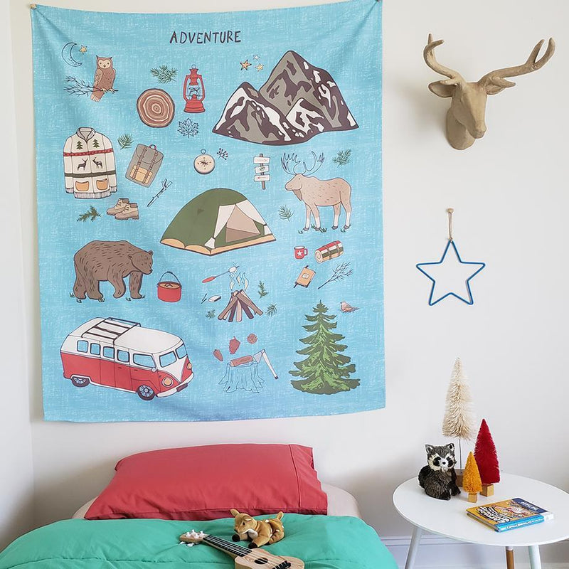Camping Adventure Kids Wall Tapestry - Project Nursery