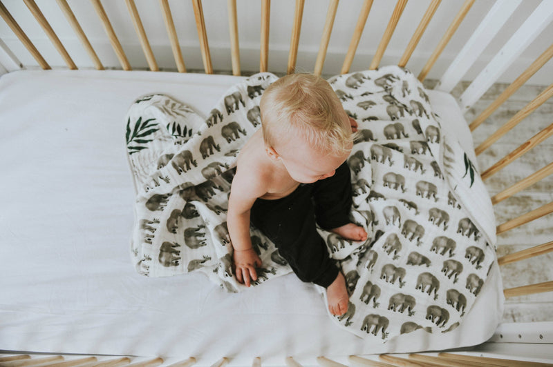 Jungle Fern Reversible Quilt - Project Nursery