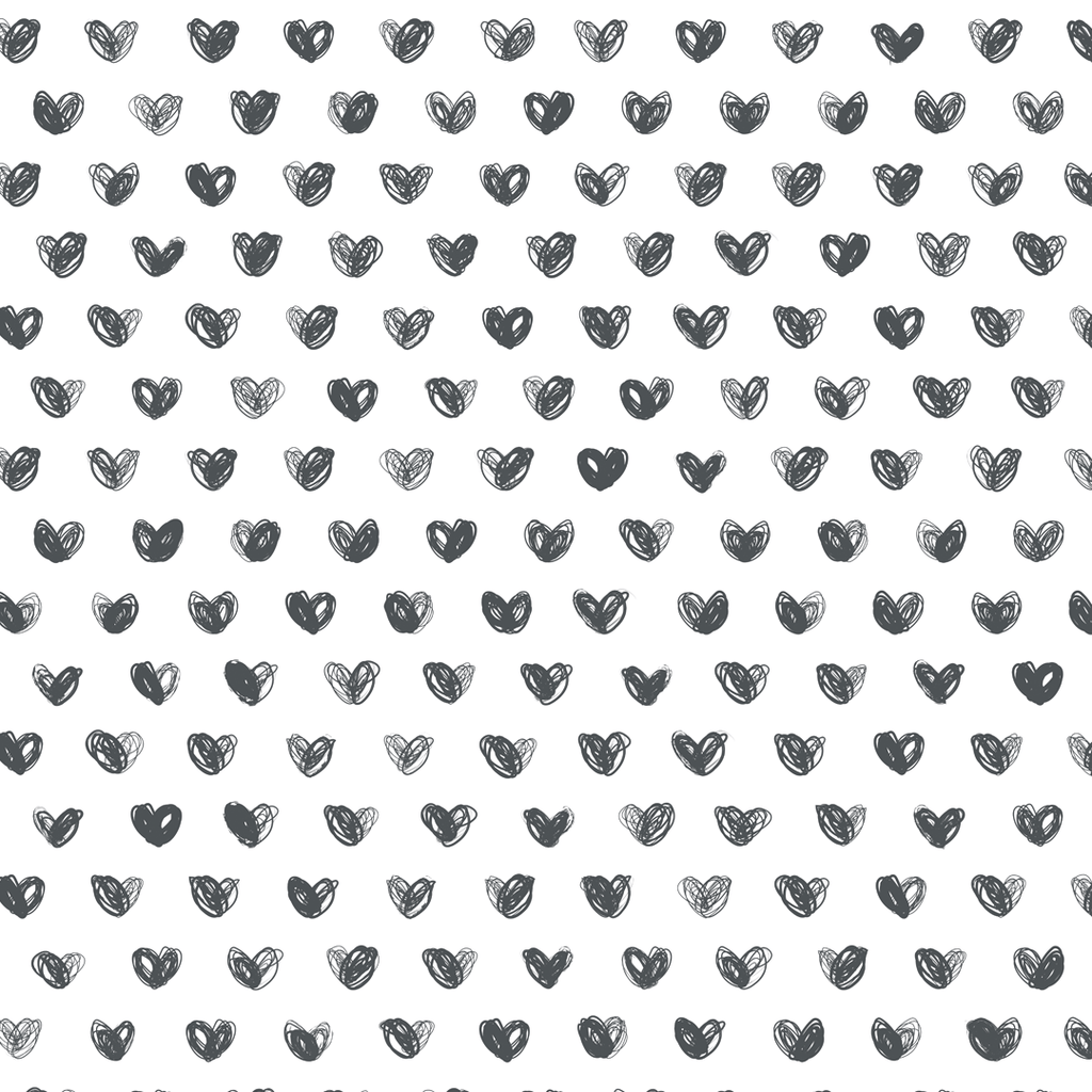 Love Wallpaper Roll / Charcoal - The Project Nursery Shop - 1