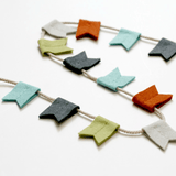 Modern Felt Bunting 30 in. / Charcoal - The Project Nursery Shop - 1