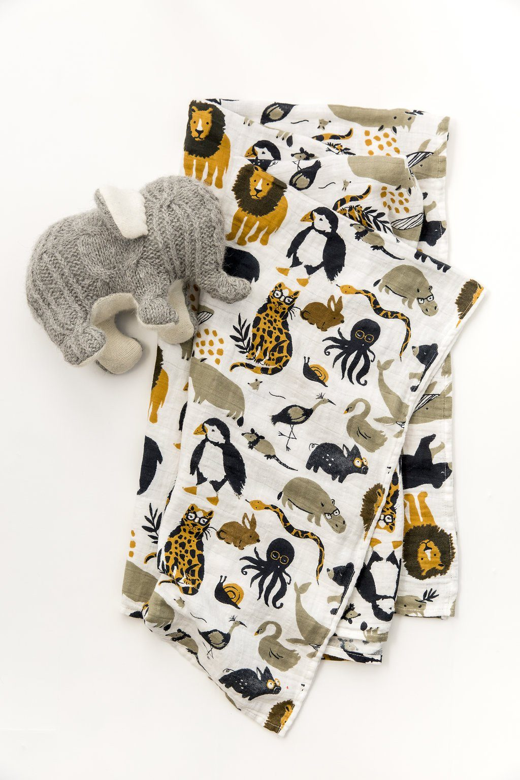 Zoology Swaddle Blanket - Project Nursery