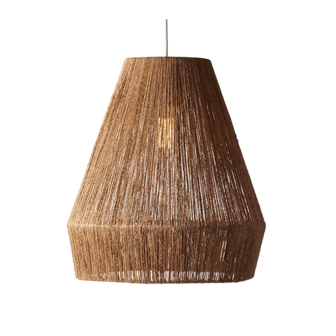 Tin Hanging Lamp in Gray Stripe