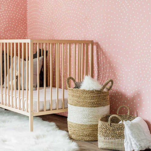 Crescent Polka Dot Wallpaper Mural - Project Nursery