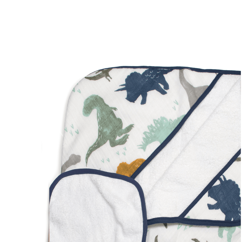 Hooded Towel Set - Dino Friends  - The Project Nursery Shop - 1