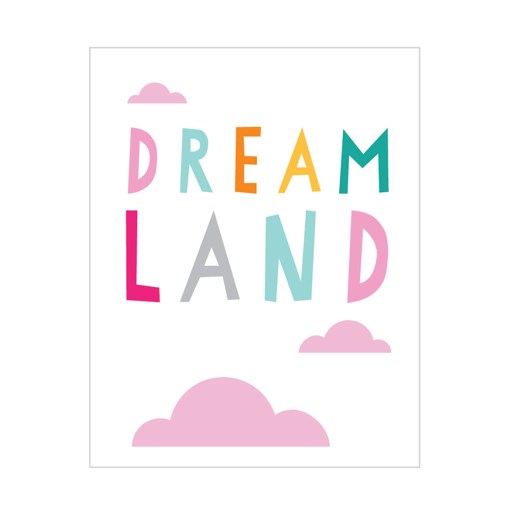 Dreamland Peel & Stick Poster  - The Project Nursery Shop