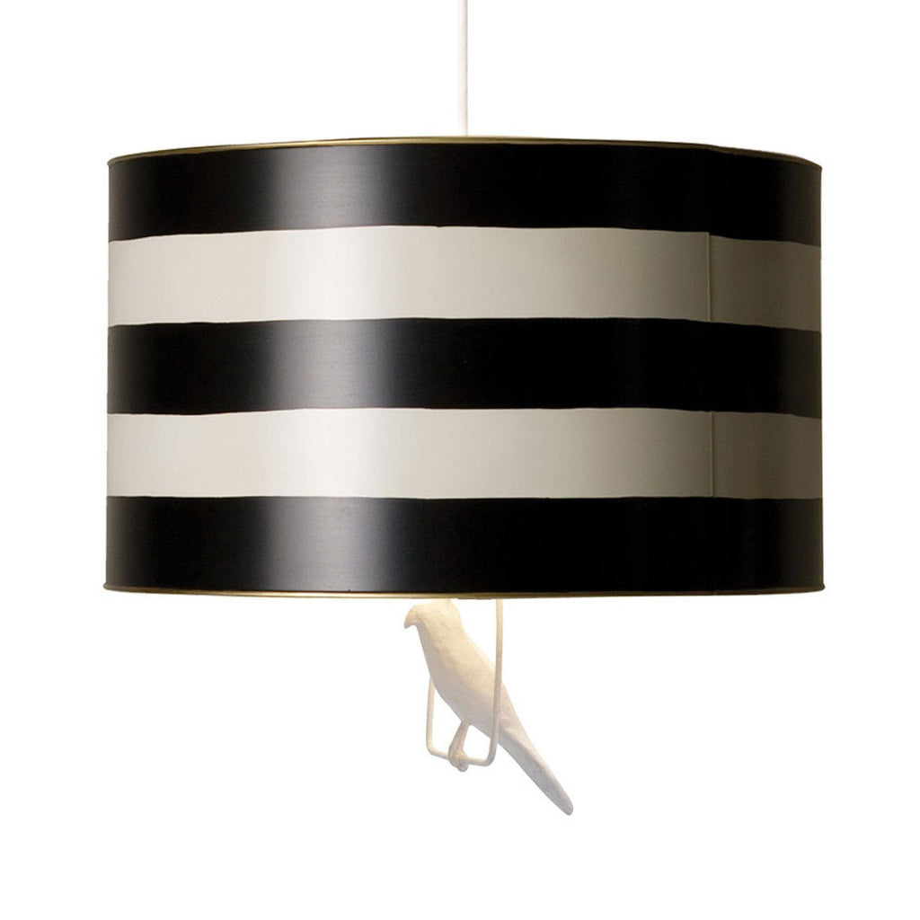 Tin Hanging Lamp in Black Stripe  - The Project Nursery Shop
