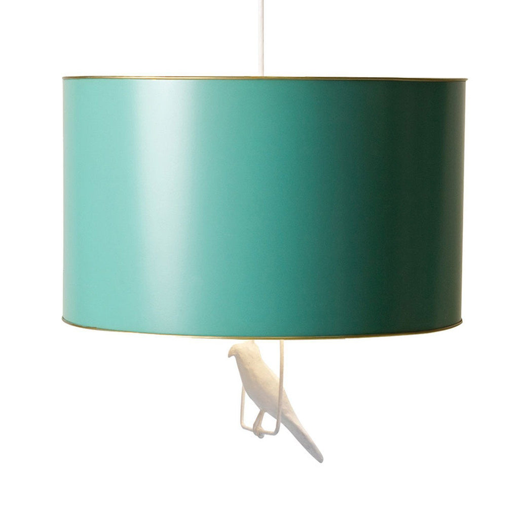 Tin Hanging Lamp in Teal  - The Project Nursery Shop