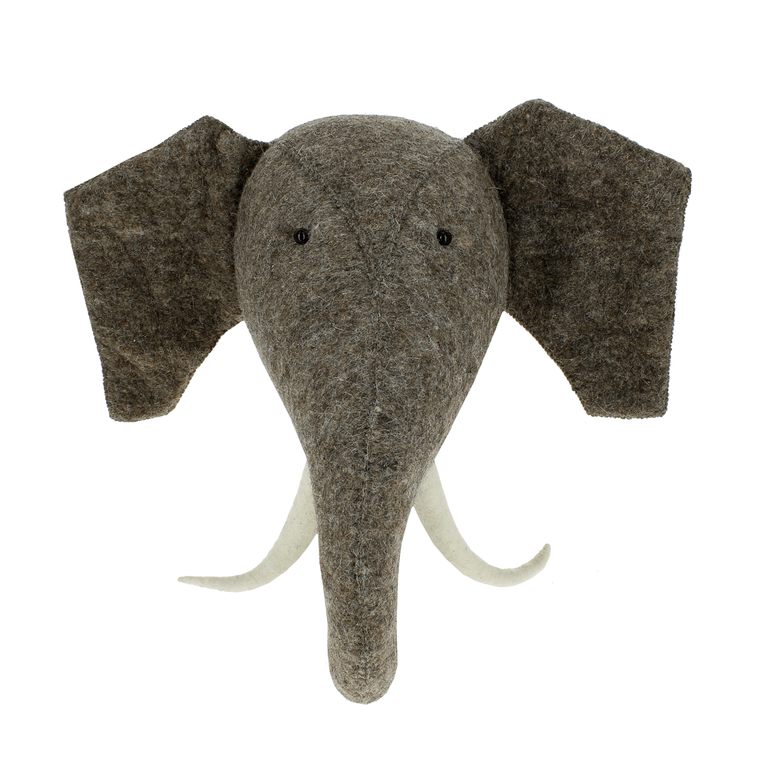 Elephant Head with Tusks - Project Nursery