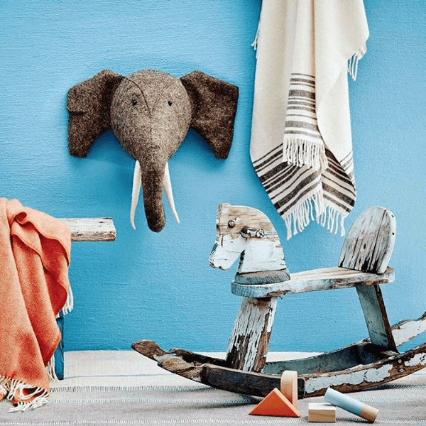 Elephant with Trunk Up Semi - Project Nursery