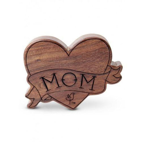I Love Mom Wood Rattle Teether - Project Nursery