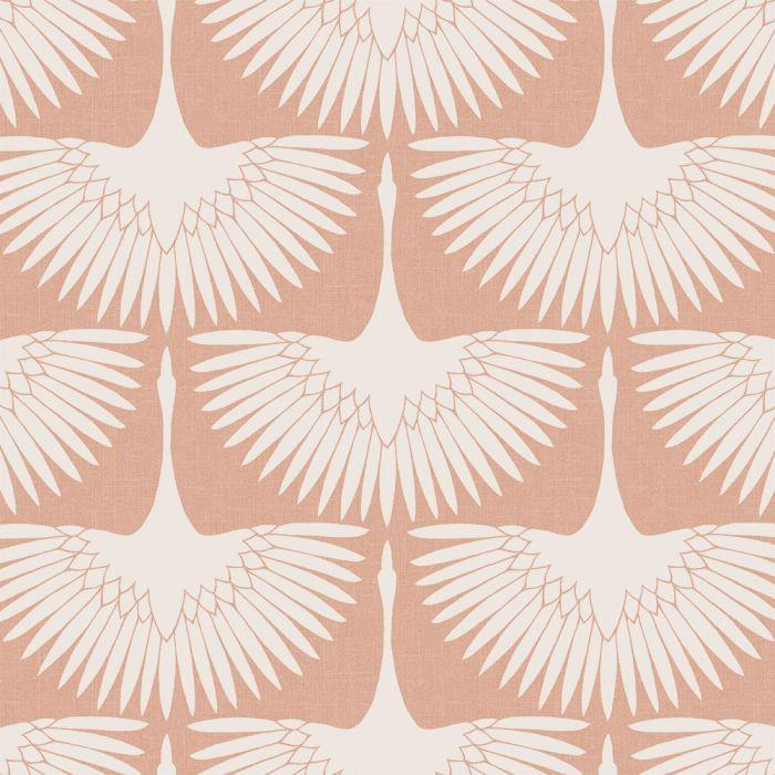 Feather Flock Wallpaper - Sahara Blush - Project Nursery