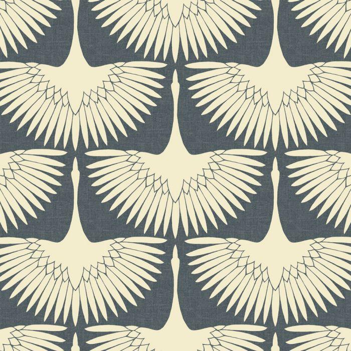Feather Flock Wallpaper - Denim Blue - Project Nursery