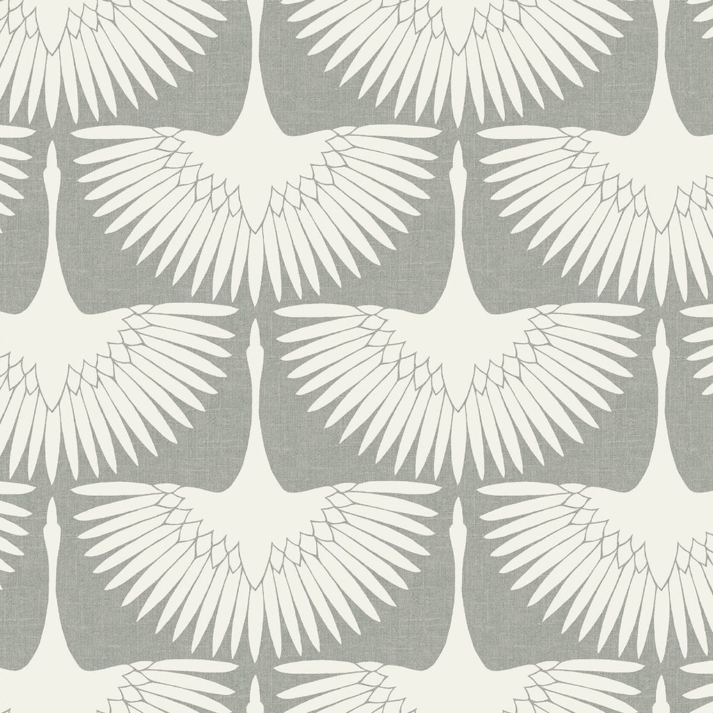 Feather Flock Wallpaper - Chalk - Project Nursery