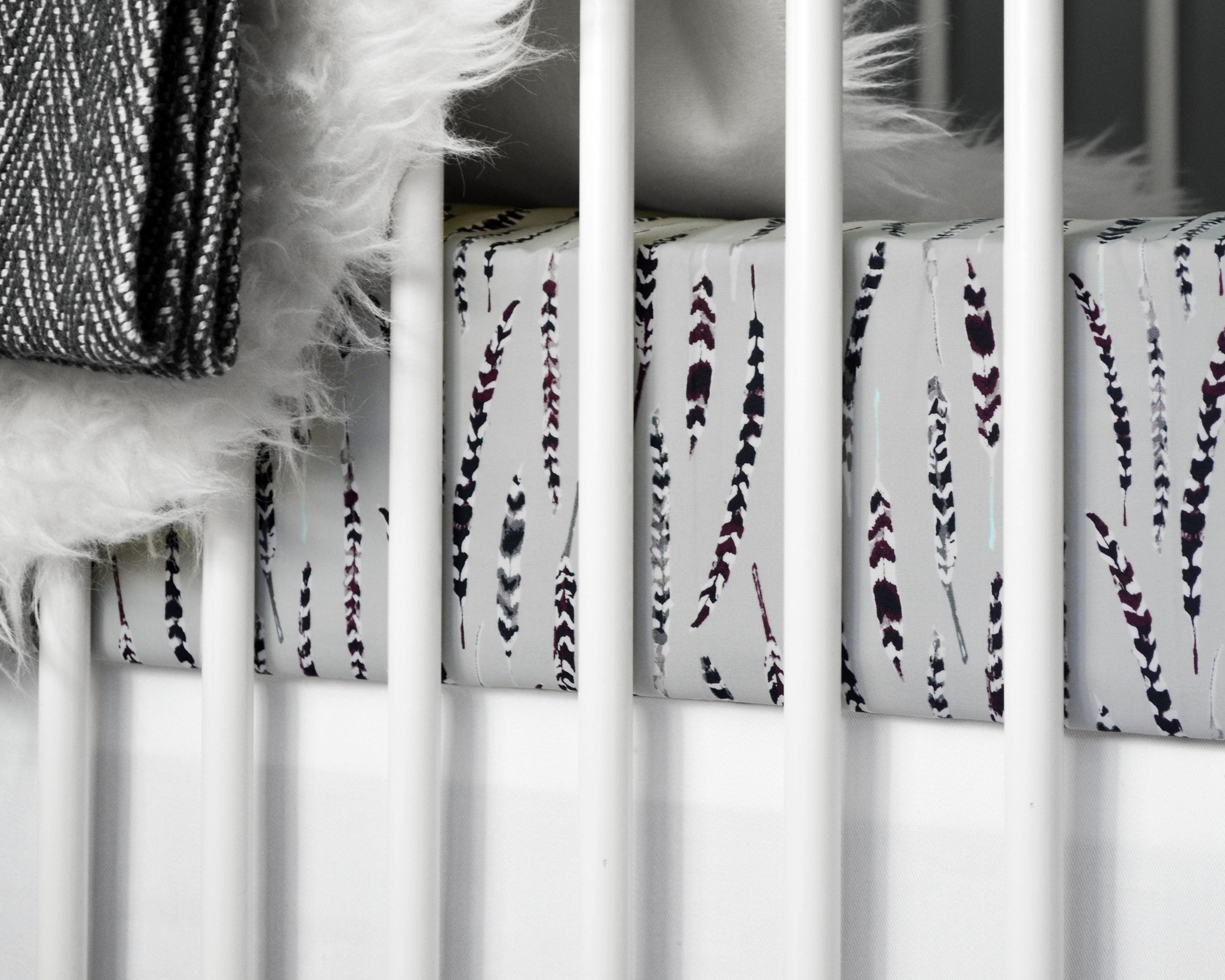 Feather Crib Sheet - Project Nursery