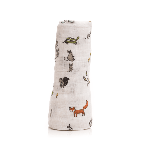 """Today I"" Cotton Muslin Swaddle Blanket"