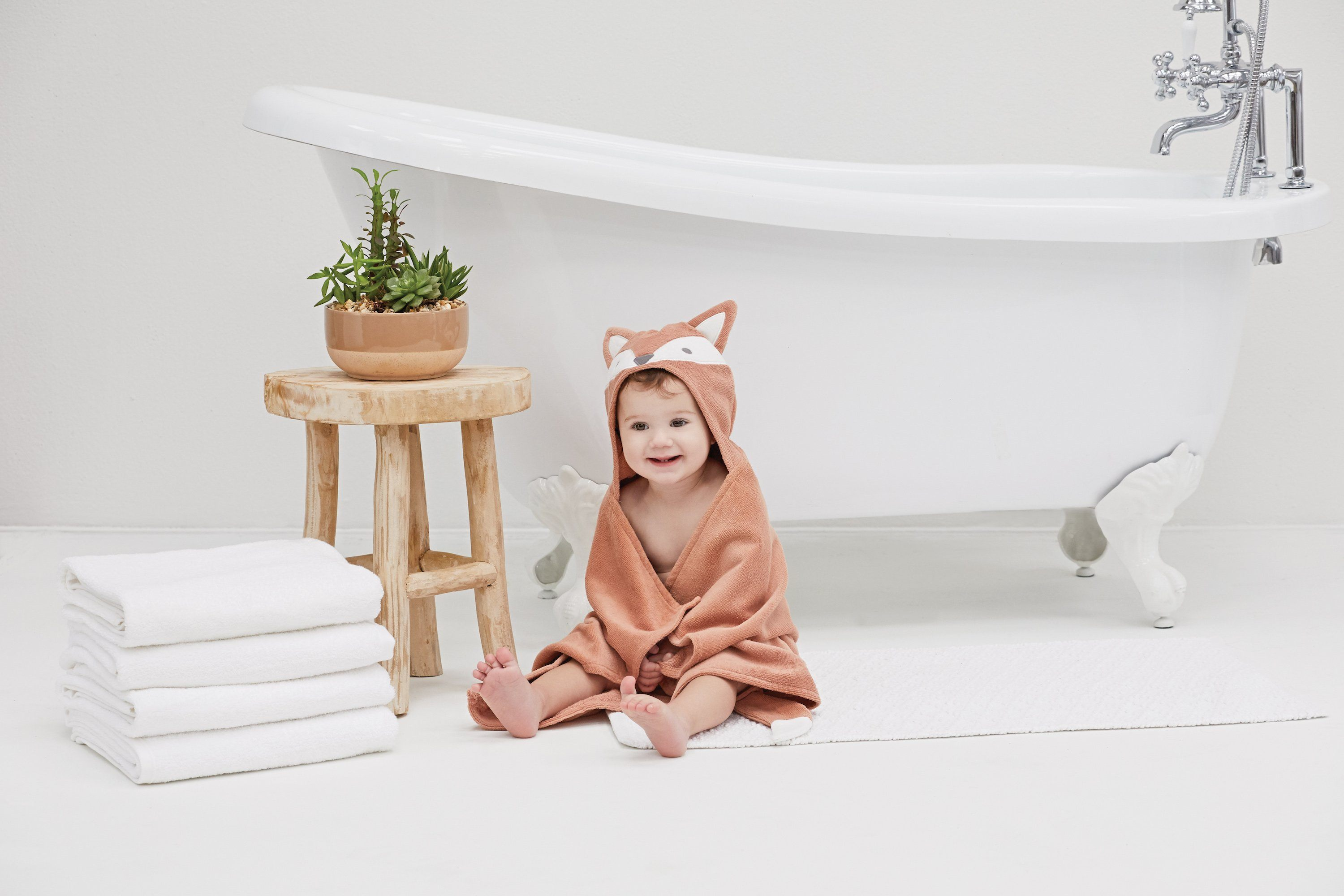 Fox Hooded Baby Bath Wrap - Project Nursery