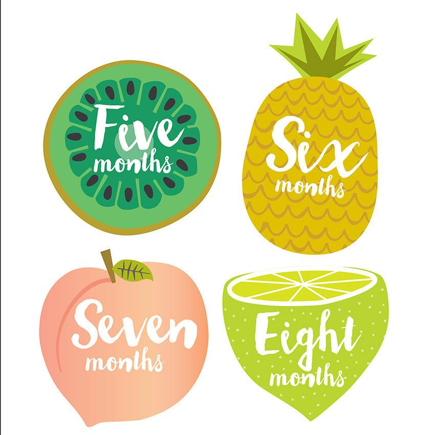 Little Tutti Frutti Monthly Stickers  - The Project Nursery Shop - 2