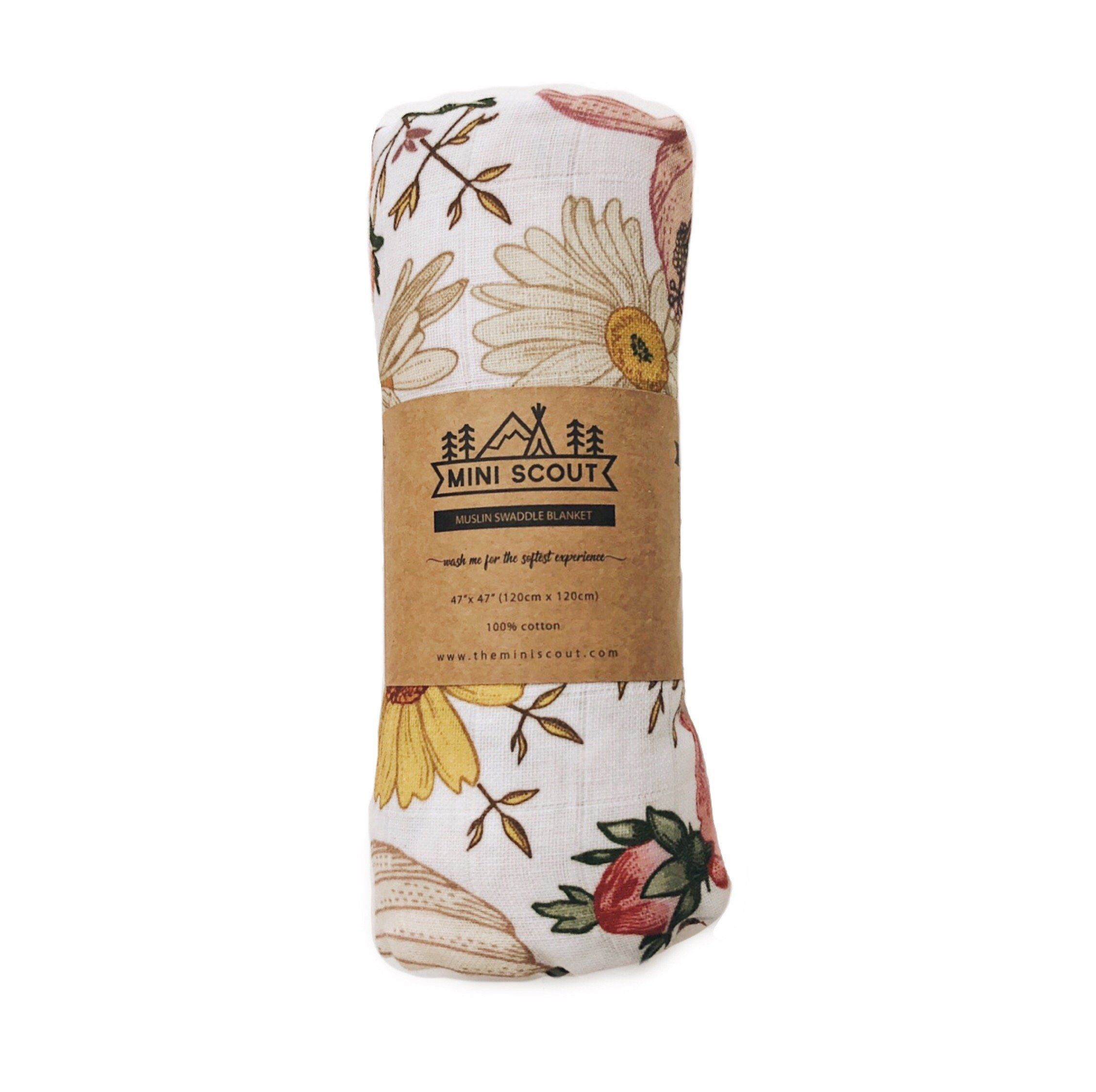 Garden Floral Swaddle Blanket - Project Nursery