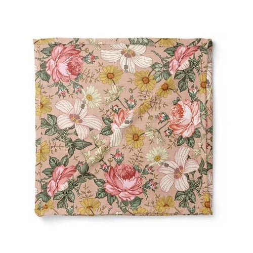 Garden Floral Swaddle Blanket - Rose Pink - Project Nursery