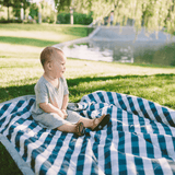 Outdoor Blanket - Navy Gingham  - The Project Nursery Shop - 4