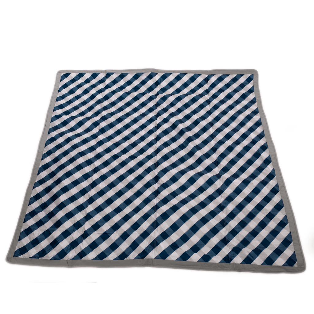 Outdoor Blanket - Navy Gingham  - The Project Nursery Shop - 1