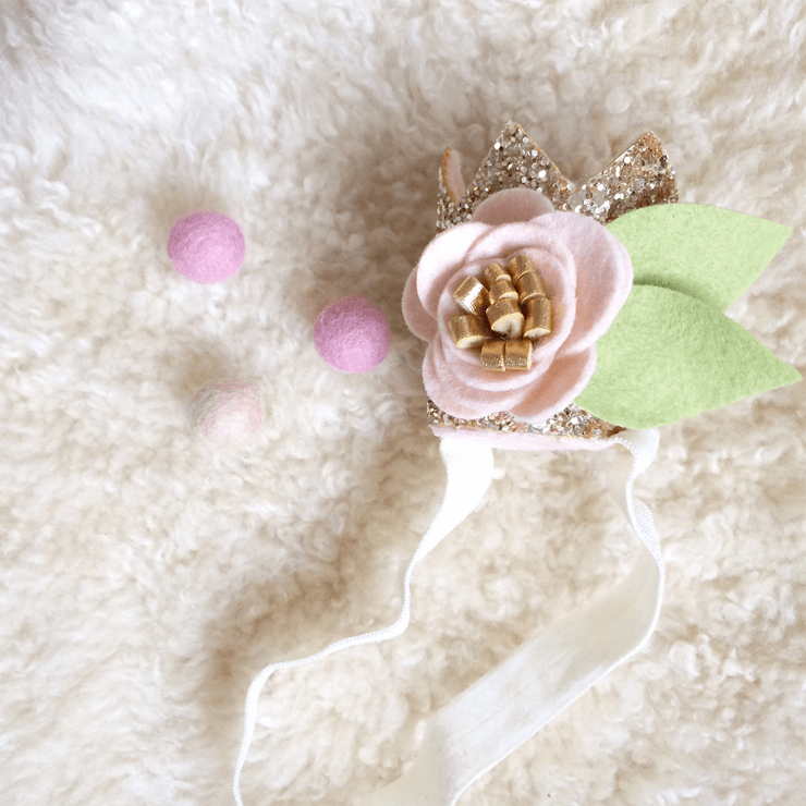 Mini Sparkle Crown - Blush & Gold  - The Project Nursery Shop - 1