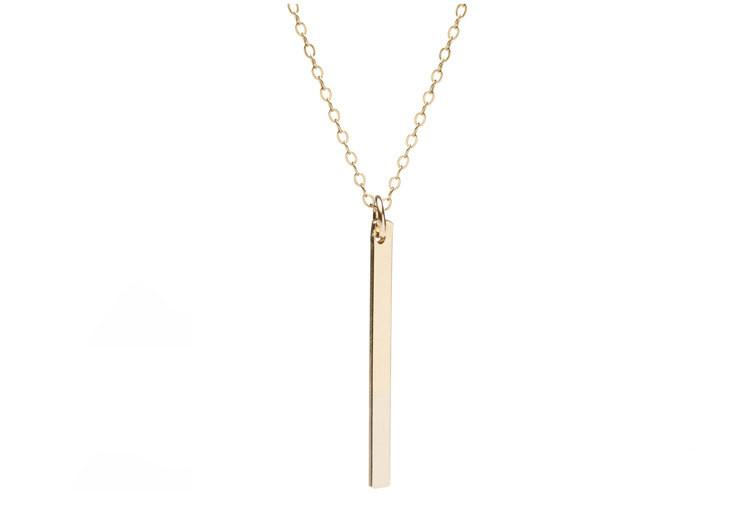 Vertical Bar Necklace Gold - The Project Nursery Shop - 2