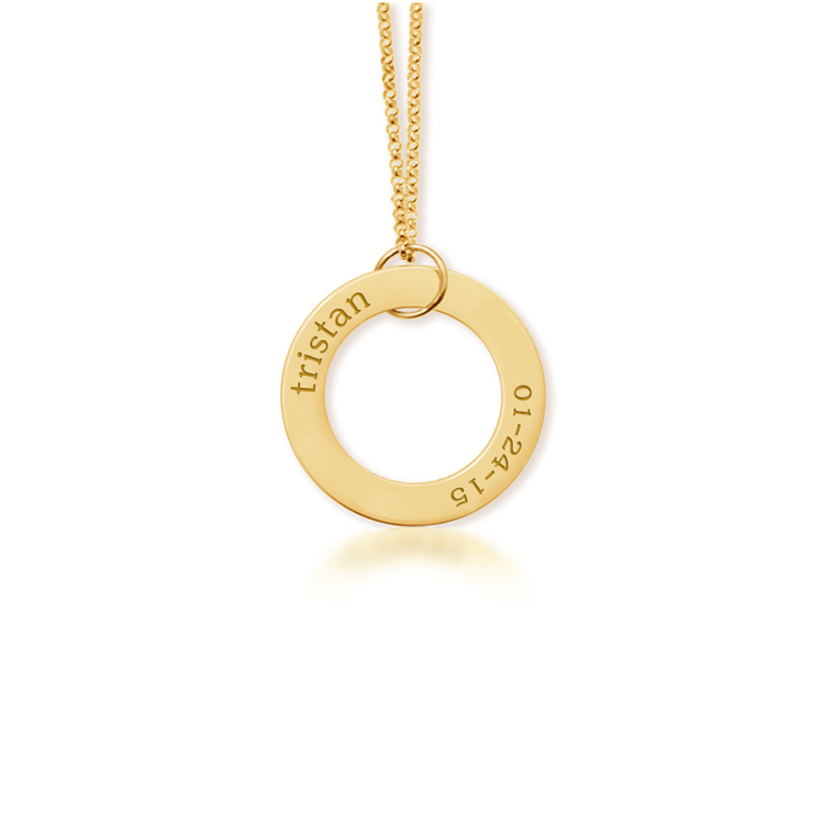 Circle Pendant Necklace Gold - The Project Nursery Shop - 1
