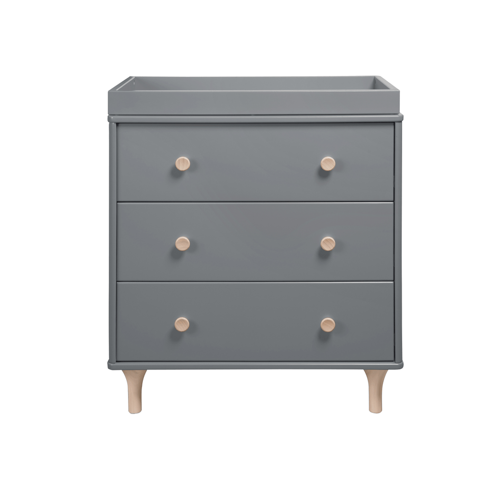 Lolly 3-Drawer Changer Dresser Gray - The Project Nursery Shop - 1