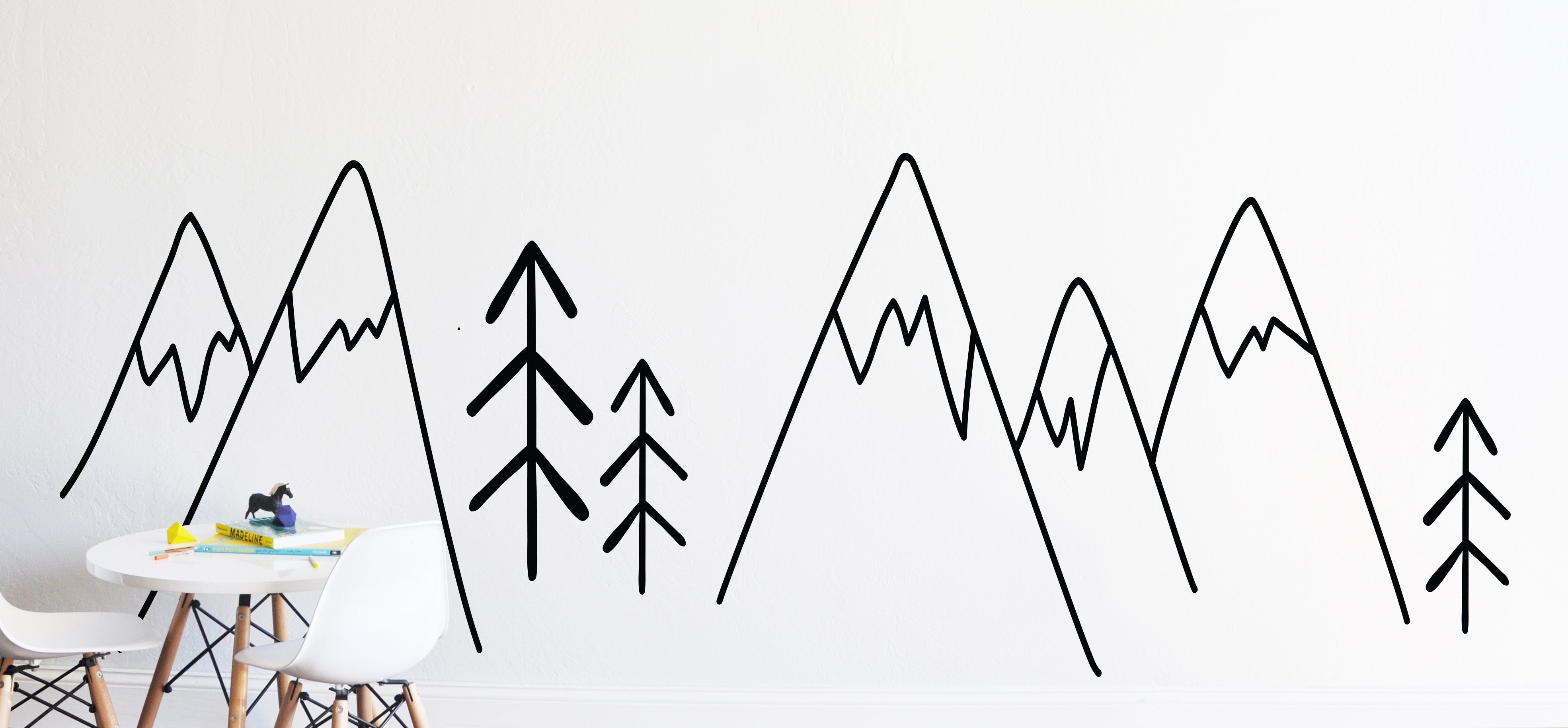 Hand Drawn Forest Wall Decal - Project Nursery