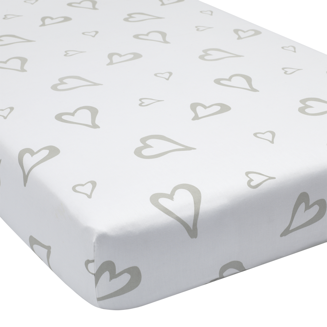Abstract Affection Organic Cotton Crib Sheet