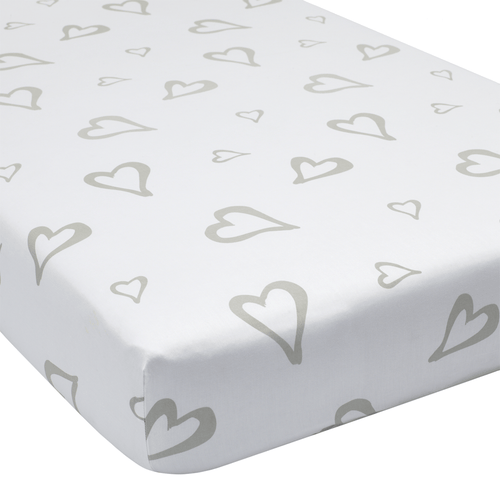 Abstract Affection Organic Cotton Crib Sheet - Project Nursery