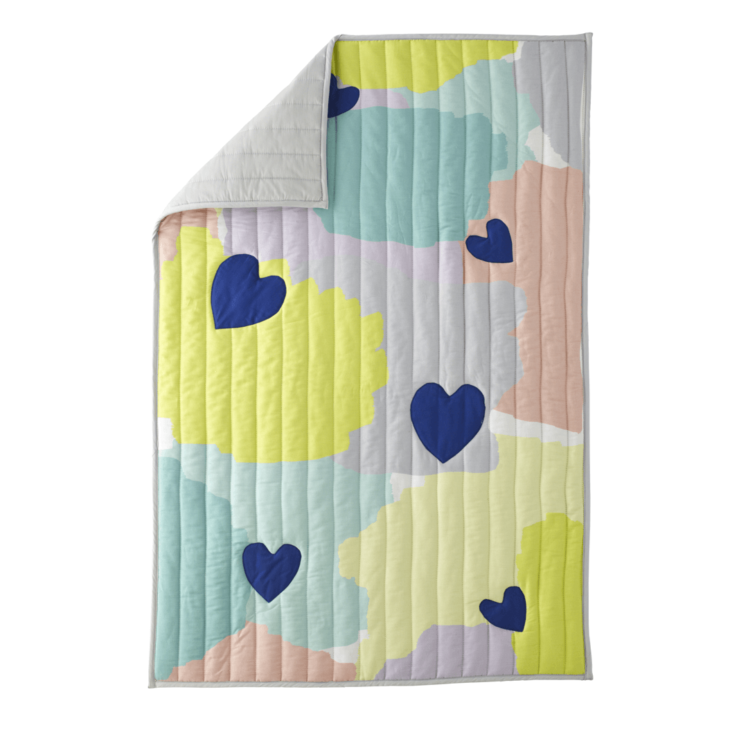 Abstract Affection Organic Cotton Toddler Quilt