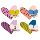 Little Heartbreaker Cutout Monthly Stickers  - The Project Nursery Shop - 1