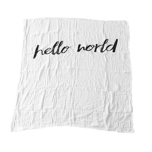 Hello World Organic Swaddle - Project Nursery