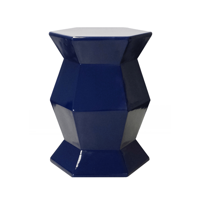 Hex Accent Table in Navy  - The Project Nursery Shop