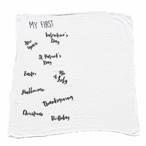 'Greatest Adventure' Organic Cotton Knit Blanket