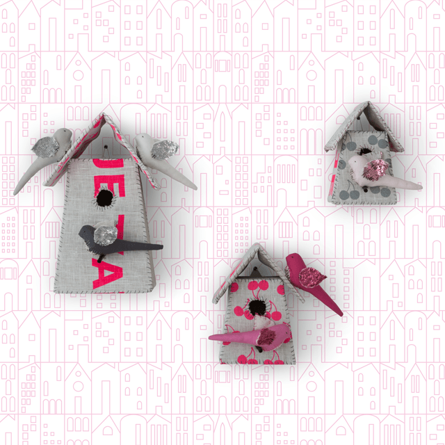 My House Wallpaper Pink Roll - The Project Nursery Shop - 1