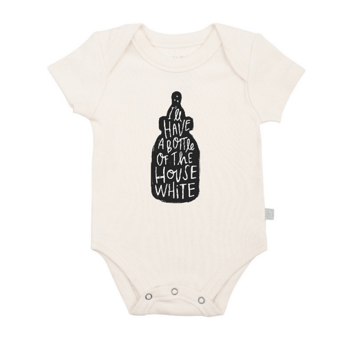 House White Graphic Bodysuit - Project Nursery