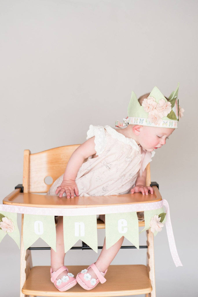 Shabby Cherry Blossom 1st Birthday Crown  - The Project Nursery Shop - 3