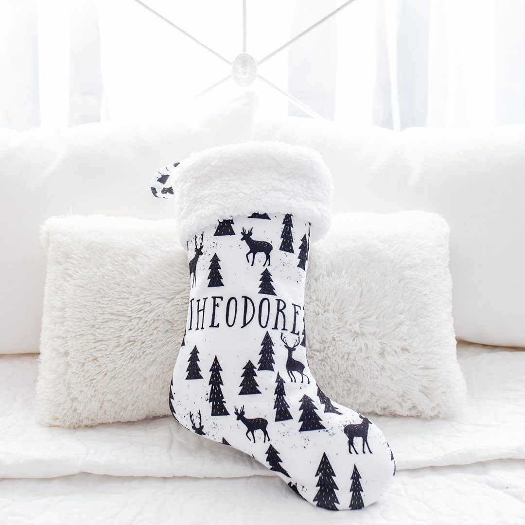 Personalized Monochrome Christmas Stocking - Project Nursery