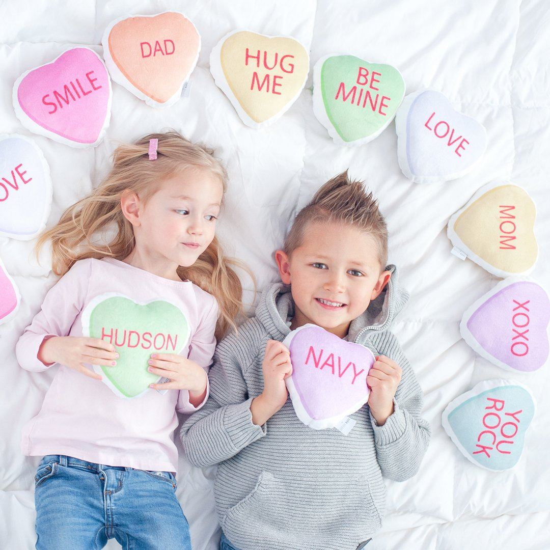Personalized Plush Candy Heart Set - Project Nursery