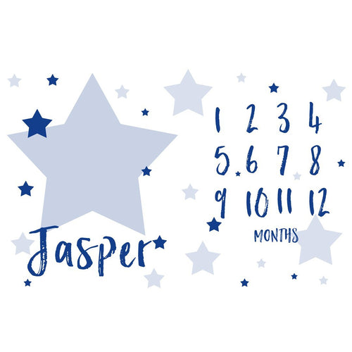 Personalized Star Organic Milestone Blanket - Project Nursery
