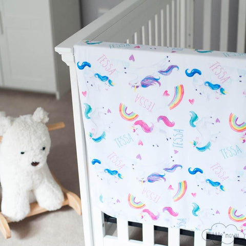 Cotton Burp Cloth - Unicorn