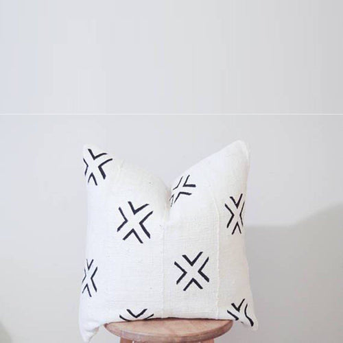 Mud Cloth Pillow Cover in X's - Project Nursery