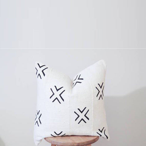 Mud Cloth Pillow Cover - Lines